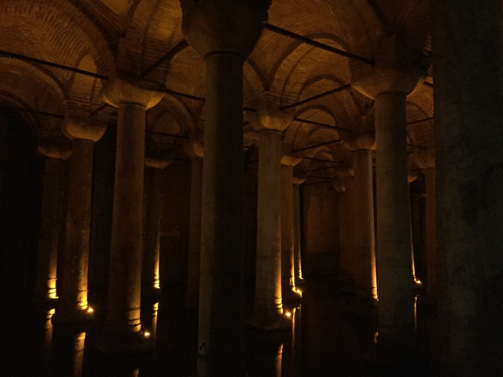 The underground cistern. A source of water during the Roman times and now a super cool (and kinda creepy) spot to visit.