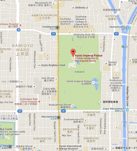 The palace grounds and the park that surrounds them is massive. Many many city blocks.