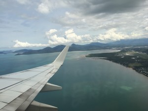 View of Cairns from the plane