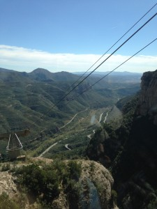 The view from the aeri tram up to Montserrat