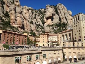 Montserrat: a monastery build into the mountainside