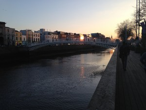 View from the Ha'penny bridge, right outside our Dublin flat
