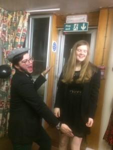 Maxx & Olivia: Will SMith Stance, by Celia Morgan. St. Andrews, Scotland. December 9, 2016.