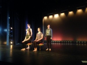 Student dancers rehearse