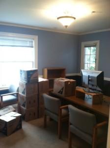 MANY boxes to unpack.