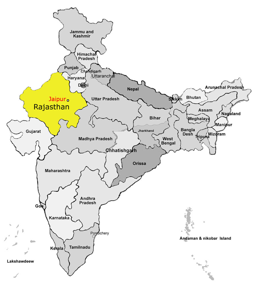 Jaipur India Map Rtlbreakfastclub