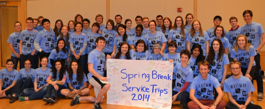 The four service trips gathered for Send Off Night on March 10th