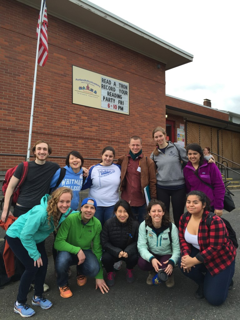 The Portland SBST group in front of an Arthur Academy Charter School!