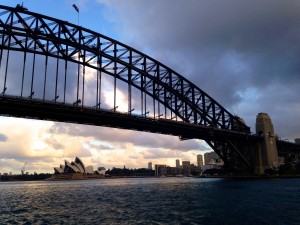 Sunset on Sydney Harbour