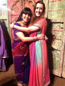 Jordan and I in our saris.