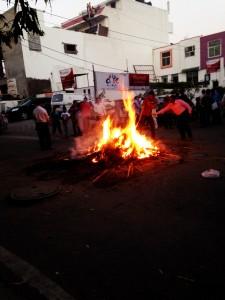 The burning of Holika.