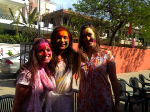At the very beginning of Holi.