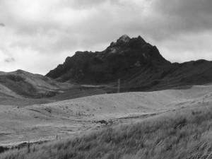 La cumbre sublime de Pichincha, al oeste