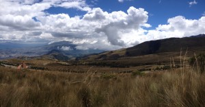 Encima de Pichincha, mirando hacia el sur