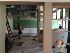 Construction of the new Introductory CS Lab, July 6, 2015