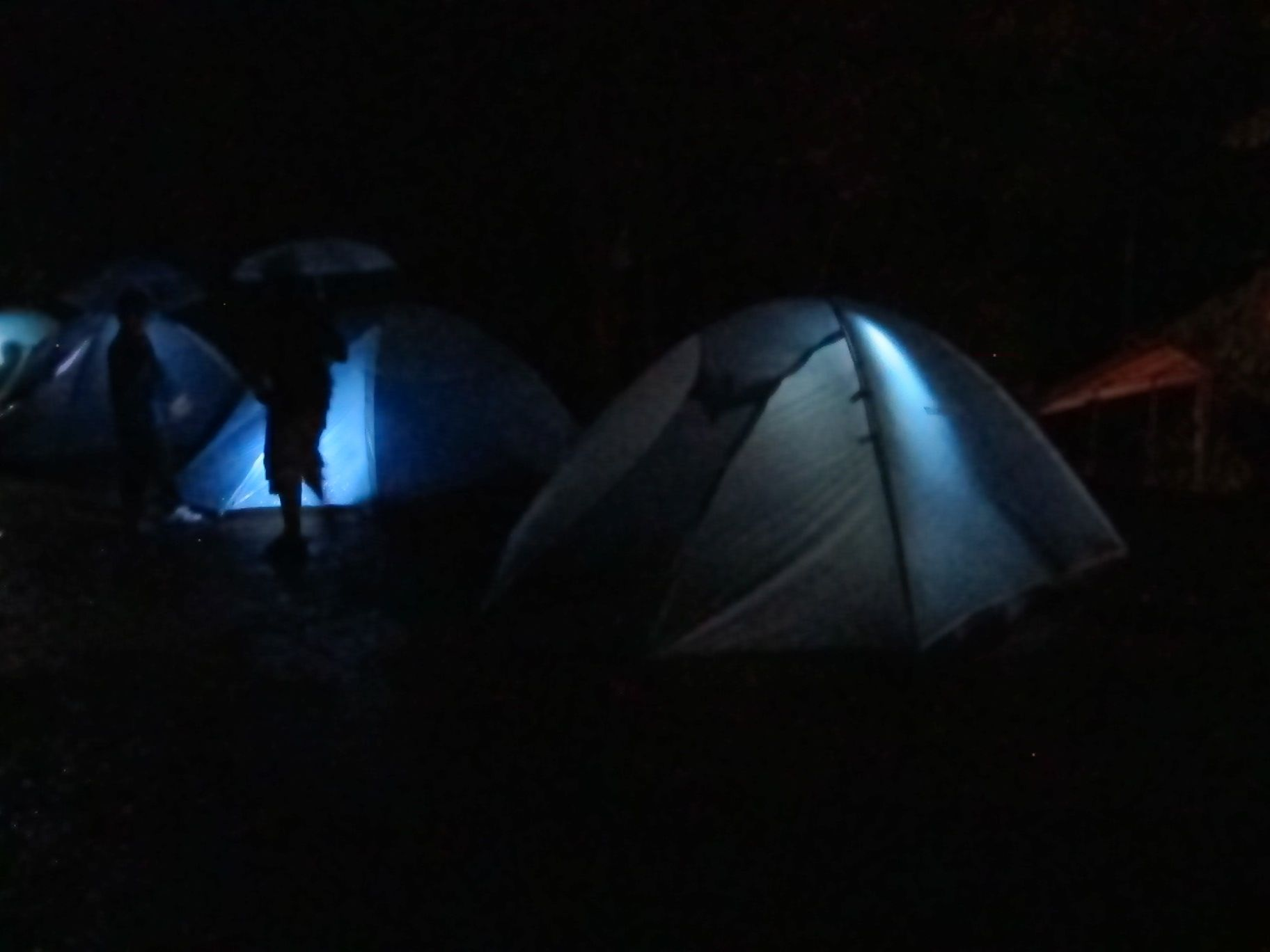 tents are so cool at night!