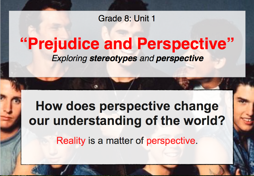 Unit 1 Prejudice And Perspective The Outsiders Mr Huttons