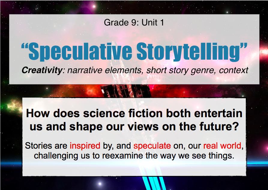 "Unit 1 – ""Speculative Storytelling"" Creativity and Context in Short"