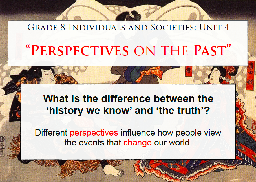 Unit 4 – Perspectives on the Past | Mr  Hutton's English Site
