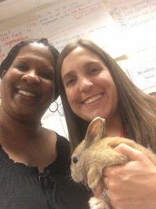 Mrs. Walters and Ms. Rooks picked up Velveteen on Monday.