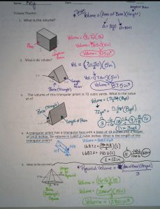 Answers to the Volume and Surface Area Study Guide (Unit 4 ...
