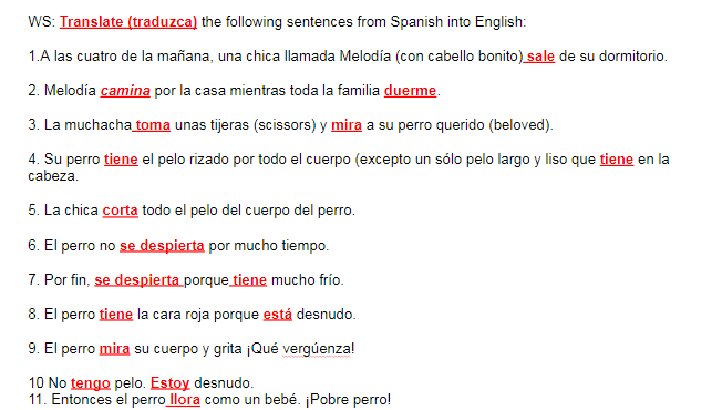 TPRS Spanish I & II with Mr  Pasek | Homepage for Spanish I