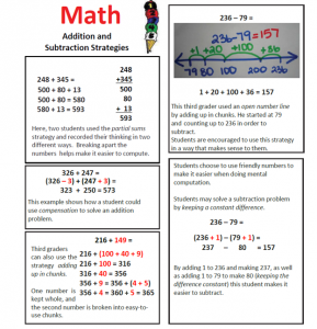 add and subtract strategies