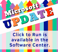 Microsoft Update available in the Software Center