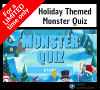 Holiday Themed Monster Quiz in SMART for a limited time