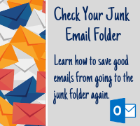 Check your junk email folder