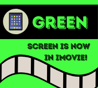 Green screen is now in iMovie