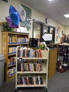 50 lucky students had the opportunity to choose a brand new book from the media center's stash of Scholastic paperbacks.