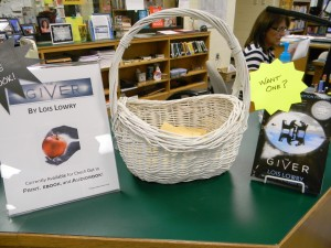Check out a book, and add your name to the basket for a chance to win.