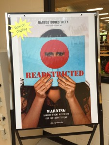 Visit the media center to learn more about Banned Books Week!