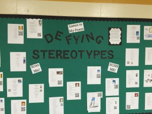 Students' final products feature their personal poems that defy the stereotype that might be projected upon them by others.