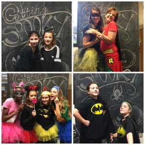 Students and teachers take advantage of the Getting Spooky Photo Booth