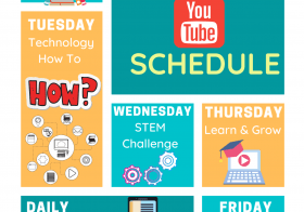 YouTube Schedule for Virtual Learning