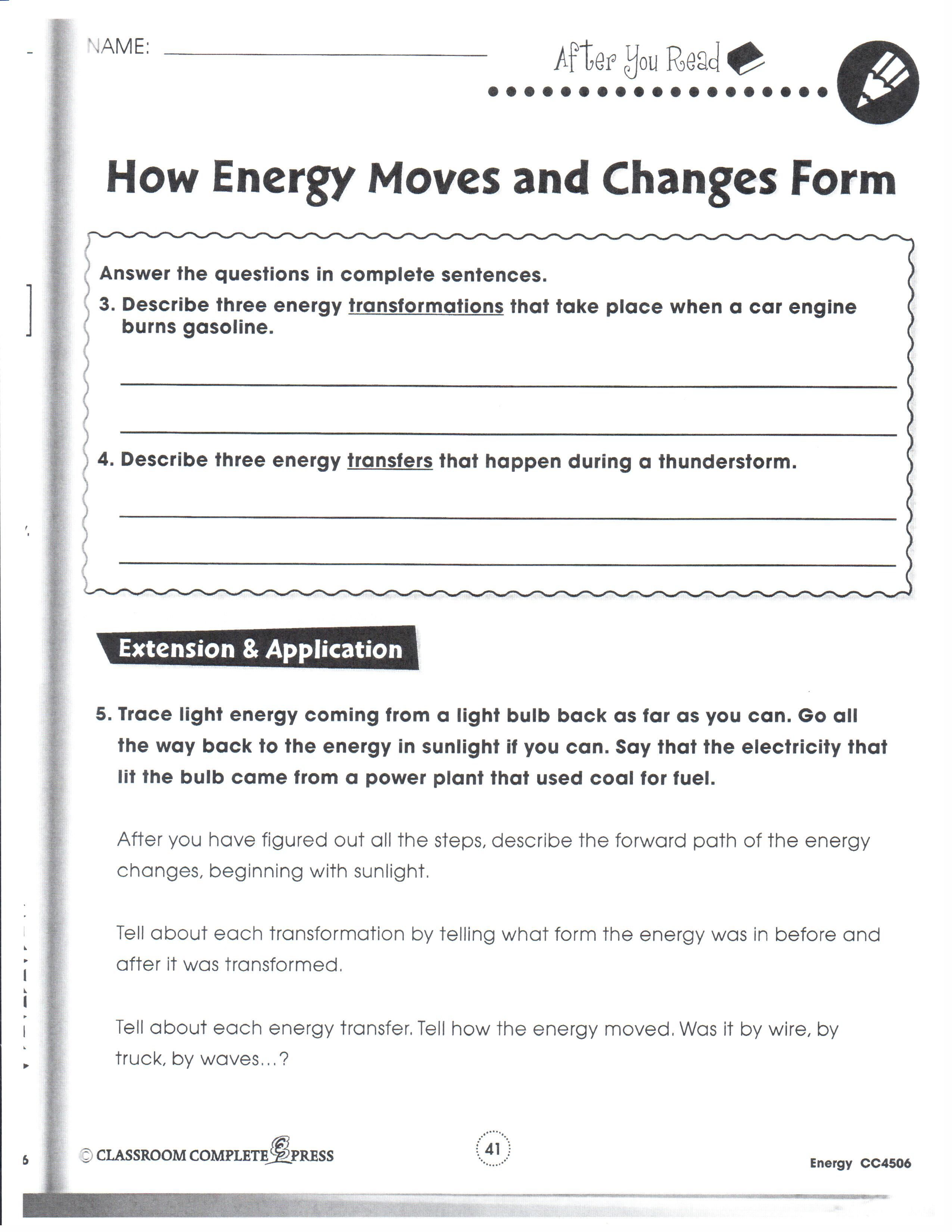 Worksheets Energy Transformations Worksheet physical science january 2013 mrs garchows classroom 8th 01 18