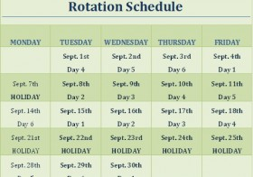 Enrichment Schedule for September