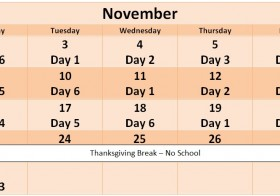 November Enrichment Schedule
