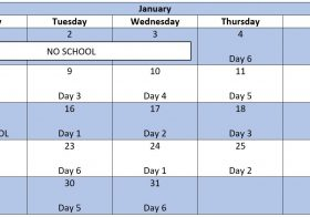 January Enrichment Schedule