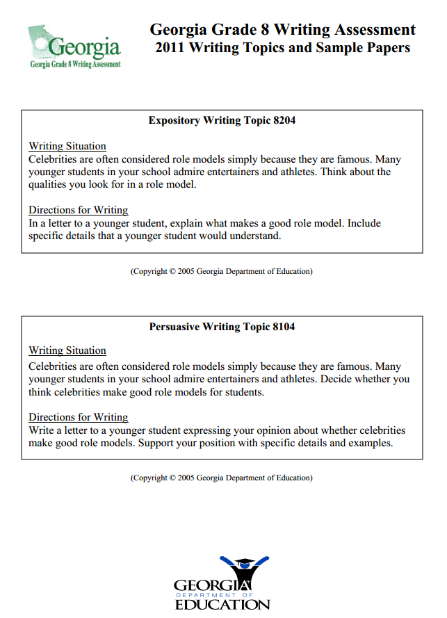 Fcat Narrative Writing Prompts For  th Grade   Worksheets for Kids     African American History Month Writing Prompt   th Grade Persuasive Essay Rubric Library