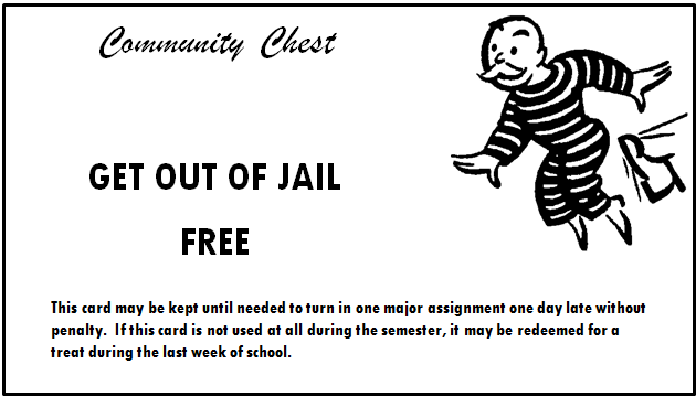 Ac language arts ms b smith mcclure middle school for Get out of jail free card template