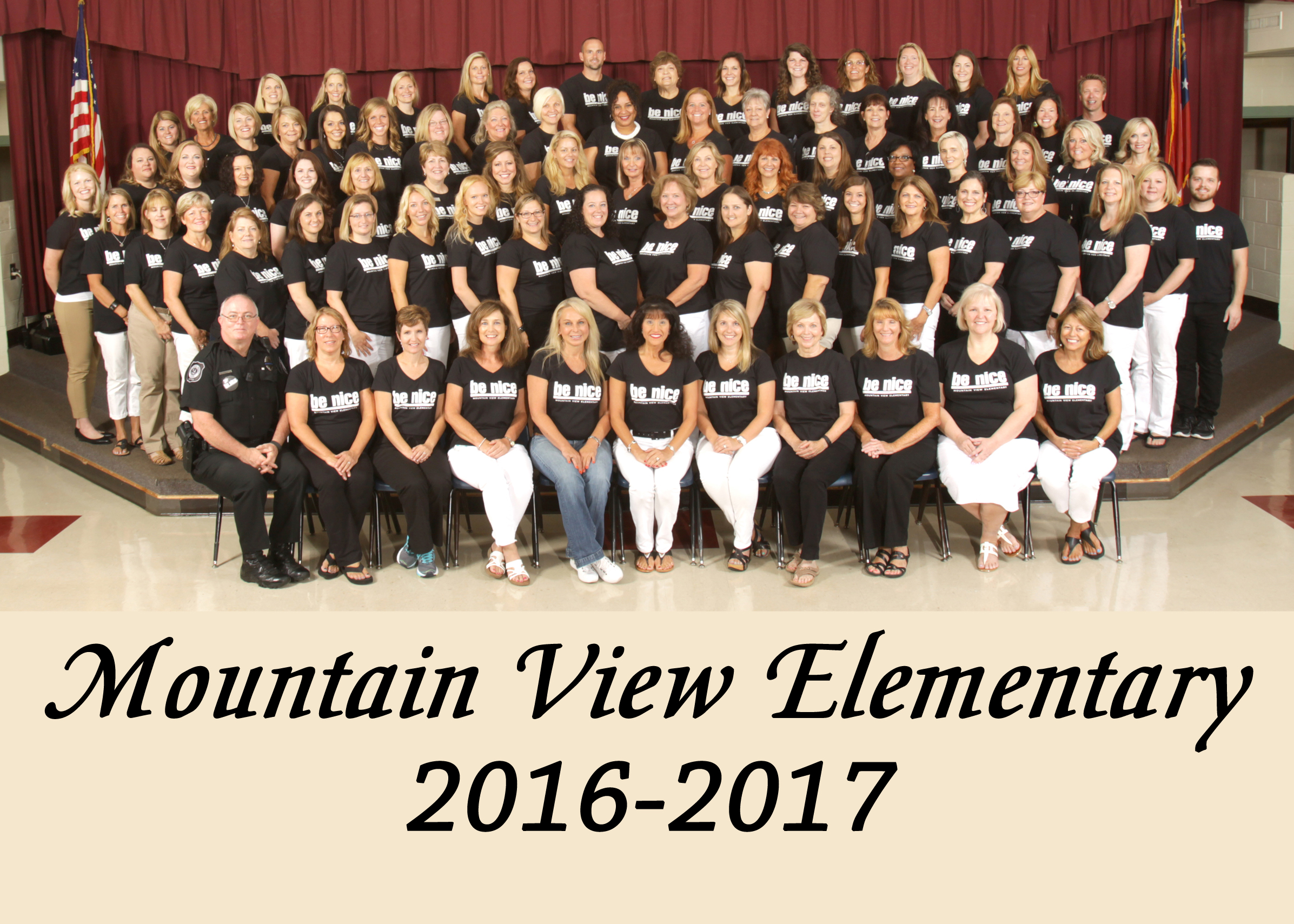 This Year Mountain View Has Launched A Campaign Titled Be Nice The Teachers And Staff Wear Buttons Or Shirts That Promote Our Campaign