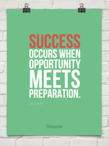 Success is where prepration meets opportunity
