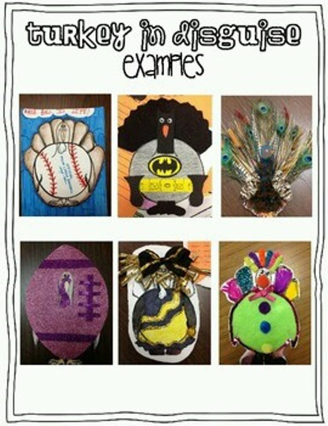 "Turkey In Disguise"" projects are due Friday! 