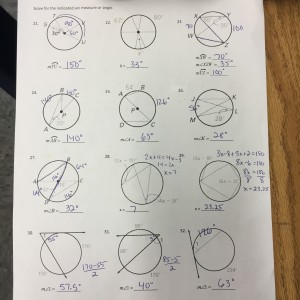 33 Geometry Inscribed Angles Worksheet Answers - Free ...