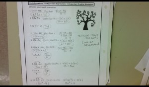 distributive property and factoring