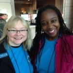 GSTA Elementary Rep. Jennifer Gates & GSTA College Rep. Dr. Charlease Kelly-Jackson