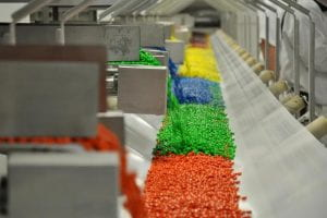 m and m's in a factory